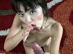 See the Asian babe Marica Hase sucking cock before getting her tight pussy and her asshole fucked for facial.