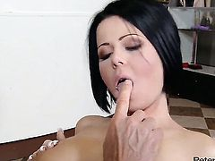 Peter North makes his hard worm disappear in magically sexy Loni Evanss mouth