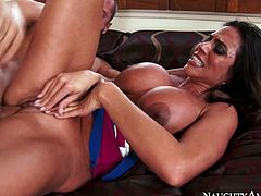 With her big sizedboobies she is juat every male's dream to fuck her backholes and mouth with all day and night.Watch this hottie sucking a cock in her friend's office in Naughty America sex clips.