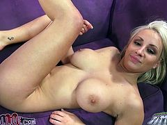 Sexy Lexi Swallow gets her smooth pussy licked and then fucked hard. After that she gives a titjob and a blowjob.