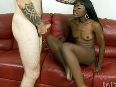 She loves to fuck with rich white guys who has a large cock and know how to please a woman.She is just like a sweet chocolate you would like to lick all day long.Watch her wet pussy getting fucked by her new friend in Fame Digital sex clips.