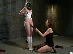Red butt cheeks, crazy toying and even crazier bondage action goes on in this BDSM lesbian video with lots of naughty stuff.
