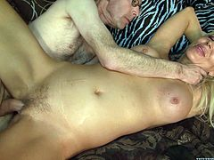 Here is a gangbang video featuring a cute blonde who is taking a lot of cock. She is sucking dick left and right while riding another guy.