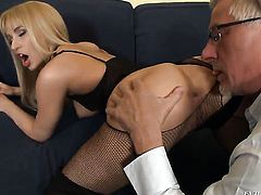 Christoph Clark makes his sturdy dick disappear in hot bodied Aleska Diamonds booty