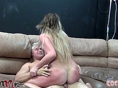 Kinky blonde Andy San Dimas allows some dude to rub her tits and pussy. Then they fuck in missionary and cowgirl positions and seem to be unable to stop.