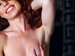 Sexy Tawny Swain likes to pose her slim body in pure and sexy solo session