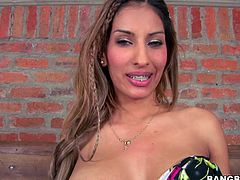 This appetizing Latina whore loves to fuck! When it comes to cocks that chick is unstoppable. She gets her pussy filled with pretty thick cock but she has one more dick to handle in this hot threesome sex video.