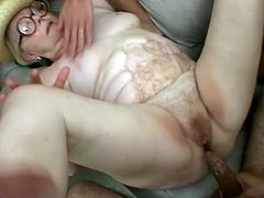 This granny simply adores gang bang. First she will suck many dicks after she will let them all fuck her in many wild poses like a real animals