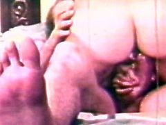 Aluring hotties having rough stimulation in amazing hardcore vintage threesome