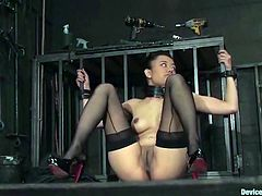 Kinky Asian chick Annie Cruz and lewd blonde Isis Love get tied up and tortured in BDSM clip. Some guy plays with their holes and enjoys the way they moan.