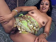 This sizzling and charming Indian beauty Indira is going to be fucked by two! Babe loves it doggy style with a huge dick in her mouth!