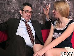 Awesome hottie gets hot fucking lesson