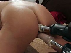 See how Ava Devine gets both fuckholes fucked by a machine in this hot video where she moans with pleasure and enjoys herself big time.