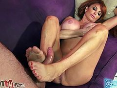 Perfectly hot redhead milf is amazing that dude