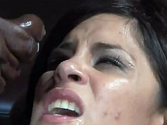Michelle Avanti gets her holes ripped apart in interracial threesome