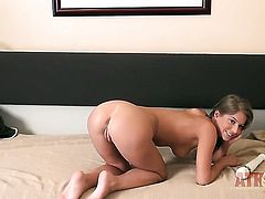 Brunette Presley Hart does her best to make man cum in steamy interracial action