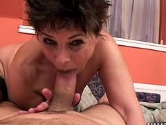 Madly horny mom is fucking like dirty slut in filthy 21 Sextury porn clip. She rides hard stick in reverse cowgirl position. She also gets fucked doggy style.