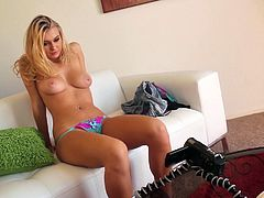 Seductive blonde is everything your cock desires. She teases you with her appetizing ass and plays with juicy tits. Watch exciting solo blonde sex tube video produced by Mofos network.