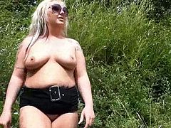 Blonde goth honeys chunky flashing and outdoor exhibitionism of Stunning Eden in A public park