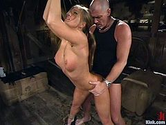 She is a nymph and as long as her pussy is staffed and pounded, she can be treated in any way. Rita is her named and Mark Davis is her master!
