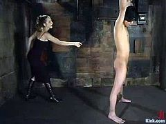 Scott Lee gets tied up by naughty chick. He gets whipped and spanked painfully. In fact, he loves what she does to him.