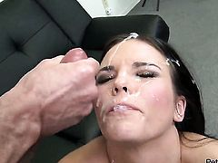Peter North fucks Mackenzee Pierce in her mouth as hard as possible in oral action