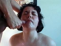 Big tit brunette admits what a filthy blowjob slut she is! Watch her sucking on his big cock like a nympho for a nice facial cumhsot!