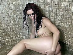 Wet Karlie Montana gets orgasms from masturbation