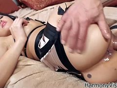 See the perverse Asian brunette slut Jayden lee getting her ass dildoed, plugged and banged balls deep into a mind-blowing anal orgasm.