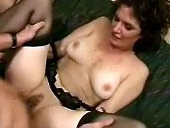 So, today we have these two naughty mature milfs, who are ready for everything, only to get a thick cock! So, they share him!