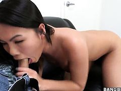 Cindy Starfall wraps her hands around mans erect worm