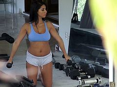 Don't skip this exciting sex tube movie featuring hot brunette is doing exercises at the gym. Go for the hottest sport sex tube movie produced by Mofos Network.