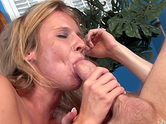 Blonde MILF with big boobs is getting drilled deep up her ass in hardcore anal fuck scene