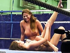 Click here to see Nelly Sullivan and Chaty Heaven as they prepare for their sex and submission fight. After some grappling and wrestling Nelly and Chatys clothes are torn off and Chaty is sitting on Nelly. Nelly cant move at all, and her wet pussy gets licked and fingered. Check out the pic and the video to find out about the rest!