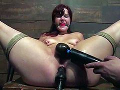 That's why she gets in BDSM scenes with great passion and pleasure! Honey loves being tortured and it happens to her quite often in her career of porn actress.