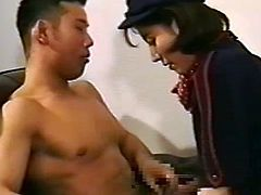 Needy japanese goes deep on oral before having her mouth filled with cum