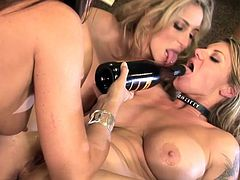 Amazing lesbian threesome sex scene we got here! Stunning milfs are so fucking drooling on each other's petite pussies.