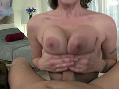 Horny gal gives deep blowjob in wild POV deepthroat oral stimulation