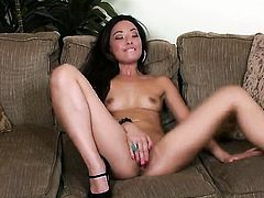 Miko Sinz getting naked for your viewing enjoyment in solo scene