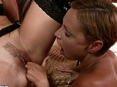 Two horny and sexy lesbians are having fun in their bedroom playing with each other and licking that wet pussy of theirs.Watch them playing with each other in 21 Sextury sex clips.