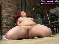 Sassy red head bitch with round body is here to please your filthy fantasies about BBW women. If you like big women this hottie is a perfect spot to jerk off on.