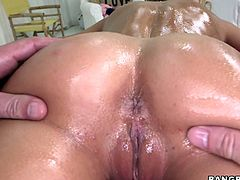 Her wet body is so sexy and her mouth is so nice to stick your cock in,she gives an amazing blowjob and can take that large cock in her tight and wet pussy.Watch her getting fucked in her pussy and mouth in Bang Bros Network sex clips.