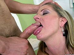 This honry bitch loved the way her doctor sucked and licked her wet pussy before he fucked it really hard.Watch them having sex in the office in 21 Sextury sex clips.