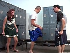 Watch these horny and sexy college students having wild sex in the changing room naked and horny in Fame Digital sex clips.