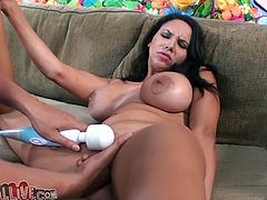 Busty Missy Martinez toys her pussy and gets fingered