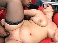 Watch this black muscular guy fuck her tight and wet pussy before he penetrates her butthole with his large cock in Fame Digital sex clips.