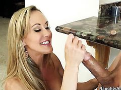 Bruce Venture plays hide the salamy with Exotic Brandi Love