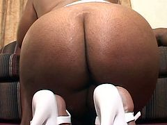 This saucy black bitch loves to suck cock to get her man in the mood. Then see how she gets pounded deep hard into an amazing orgasm in this spectacularly hot video.