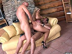 smoking hot blonde double penetrated