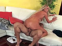 Smoking hot blonde babe Brynn Tyler shows her hard fucking skills in this wild hardcore sex video. Bitch fucks hard and takes all jizz in her mouth and face.